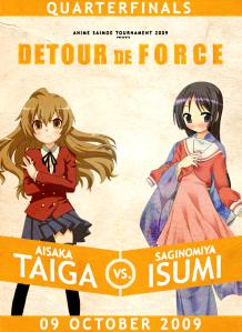 quarterfinal poster - taiga v isumi